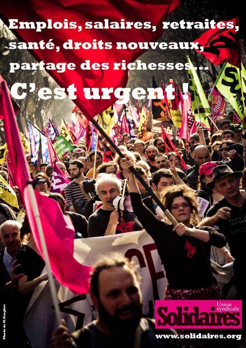 Emplois, salaires, retraites, santé, droits nouveaux, partage des richesses… c'est URGENT !